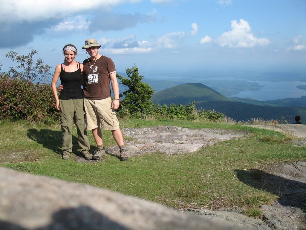 Liz and I at the Summit of Wittenberg Mountain.