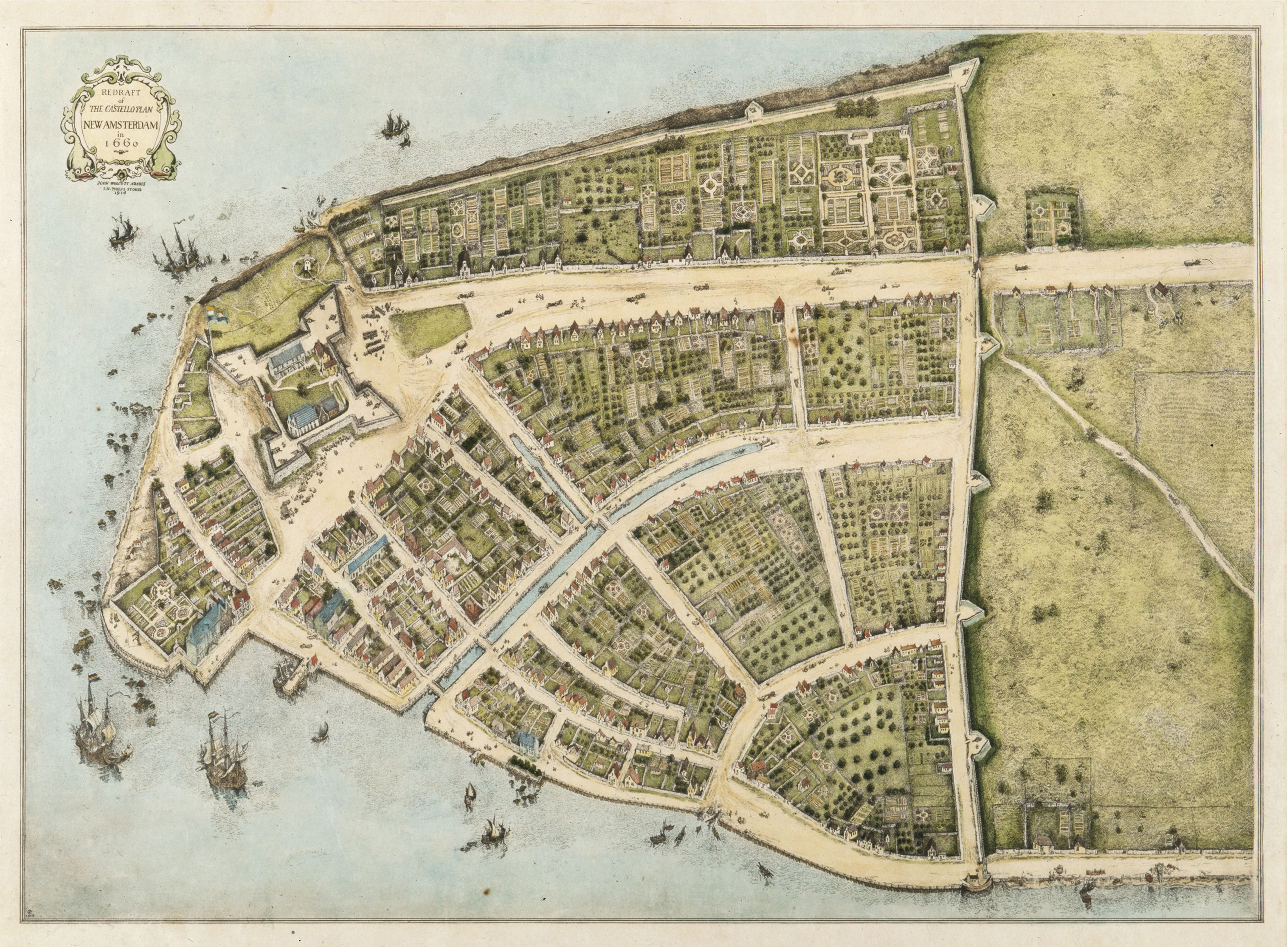 Map of Dutch settlement of New Amsterdam