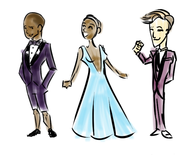 Pharell, Lupita, and Cumberbatch
