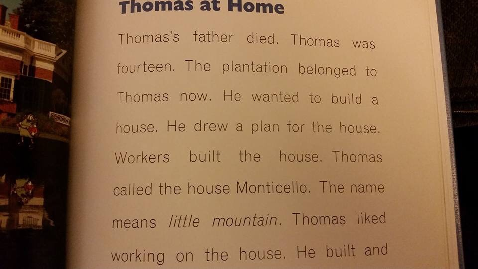 """Thomas at Home"" section of Thomas Jefferson biography"