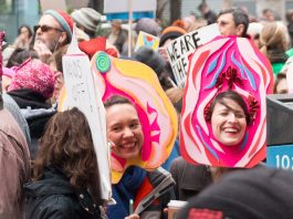 NYC Womens March Vagina Masks