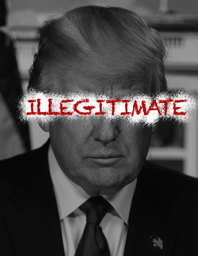 Donald Trump - Illegitimate - Available under Creative Commons 4.0 ShareAlike License