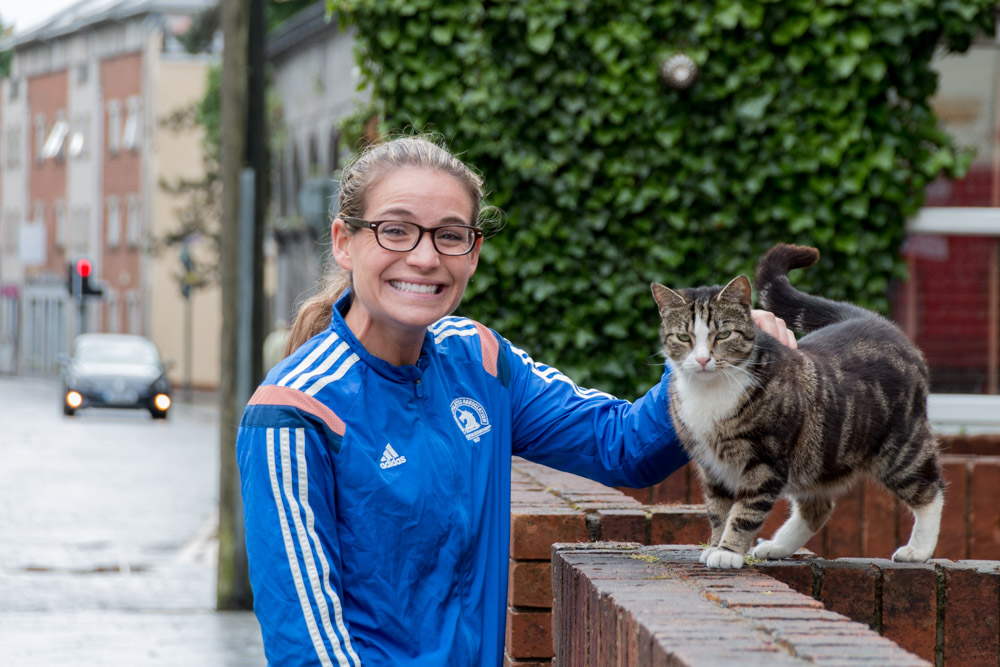Corky meets an Irish cat in Limerick