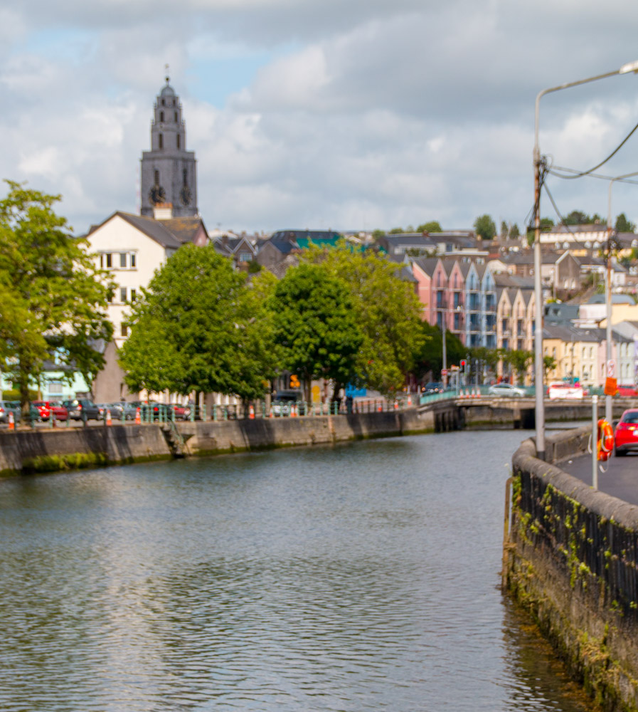 A view across the river at Cork City, Ireland
