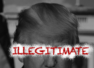 Donald Trump - Illegitimate - Available under Creative Commons 4.0 ShareAlike License